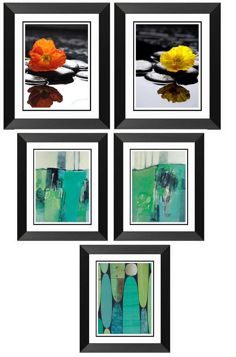 Wall hanging photo frames beautiful scenery wall flower painting