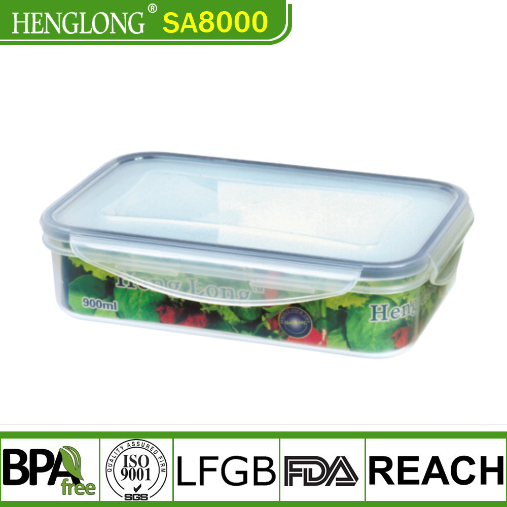 Modern design microwavable storage food container with lid
