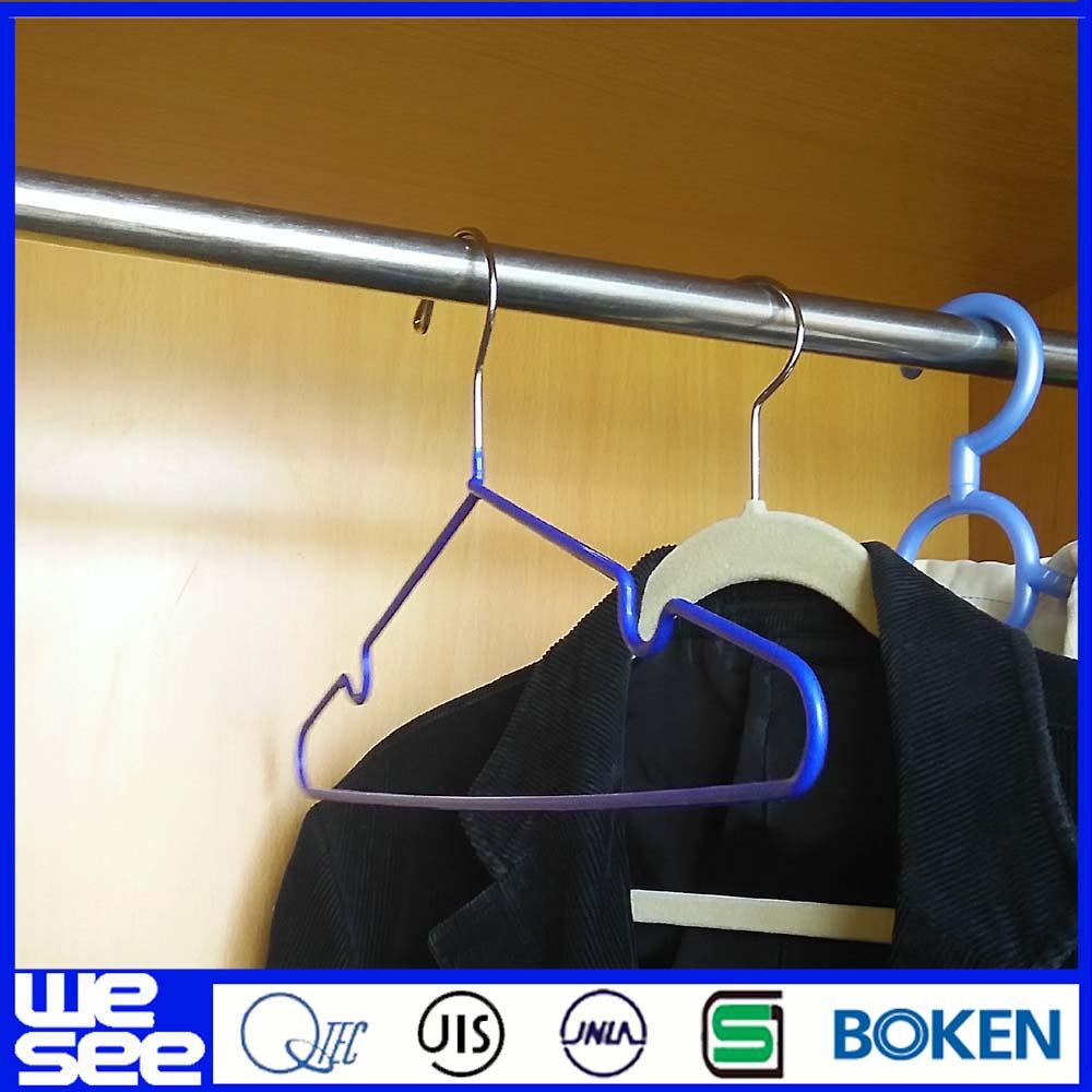 Cheap Hangers In Bulk 100pcs Wholesale Flocked Non Slip