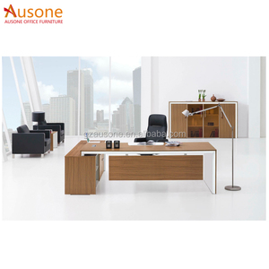 Zebra and White Luxury Wooden Executive Desk