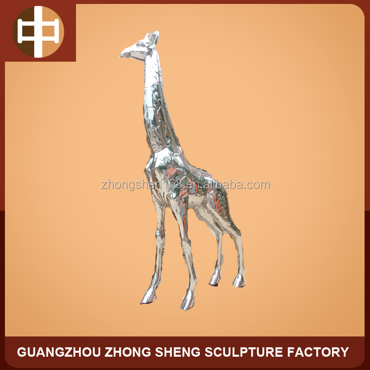 Stainless Steel giraffe statue for outdoor decoration