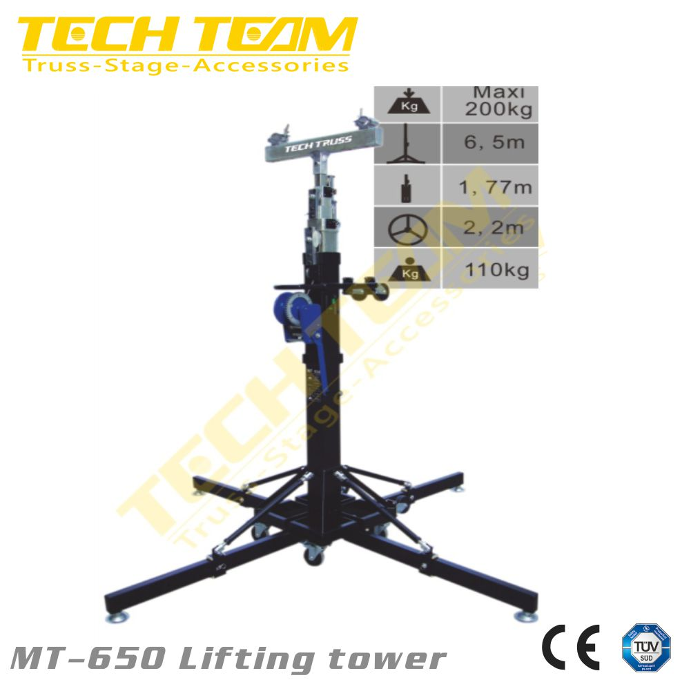 portable truss lifting tower light stand truss tower good quality