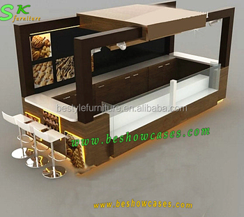 Indoor food kiosk design coffee counter coffee kiosk for for Indoor food kiosk design