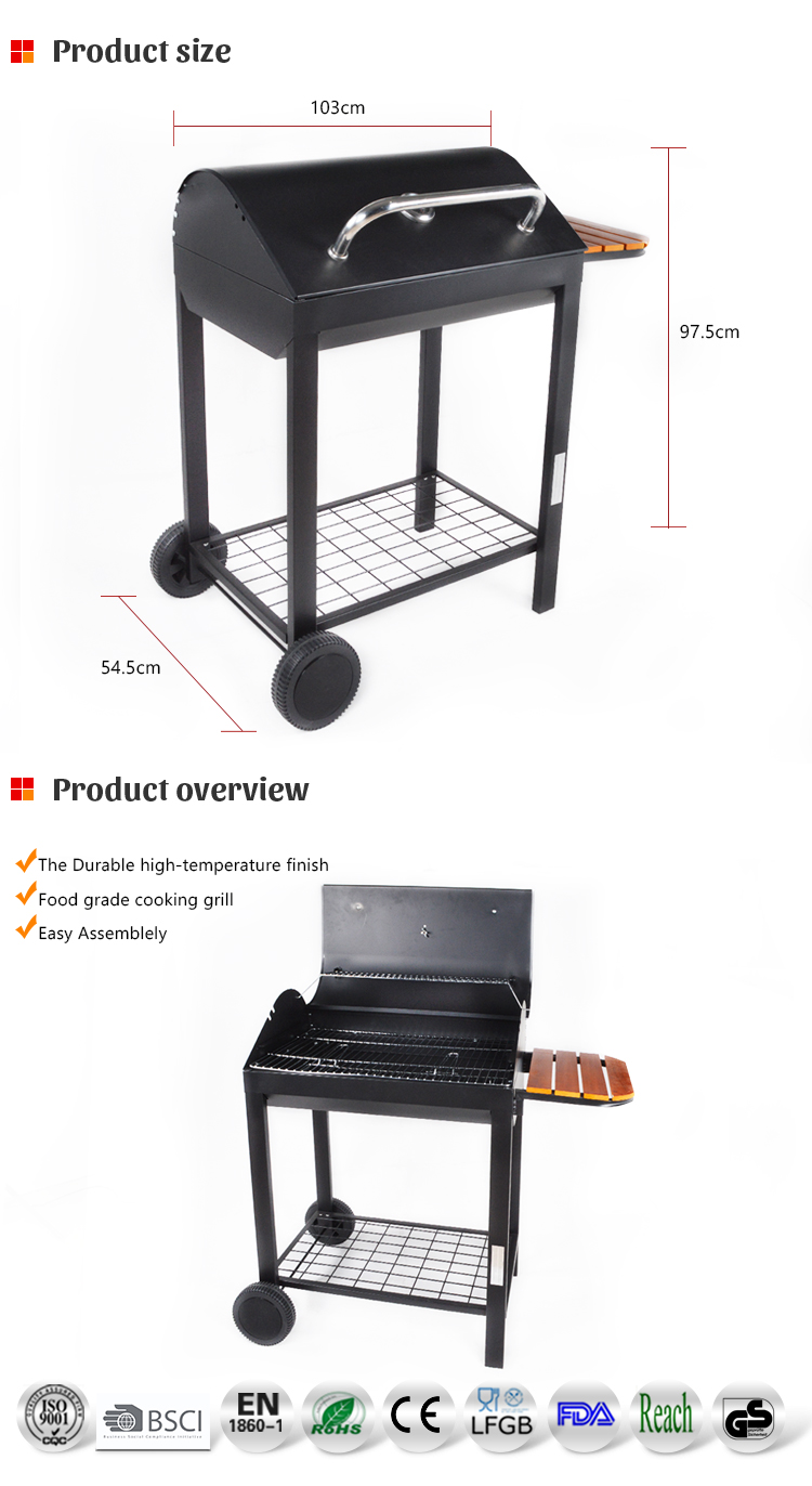 Outdoor Used Rectangular Charcoal Grill Barbeque Bbq Grill ...