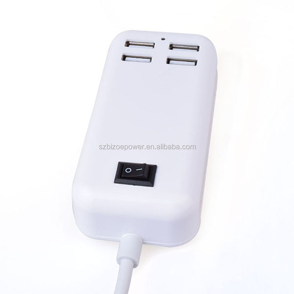 Brand New White 6 Port USB Travel Charger, Mains Wall Adapter US/EU/UK/AU plug 5V6A charger for cellphone