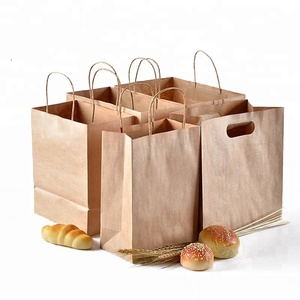 High quality custom restaurant food packaging paper carry bag with your own logo