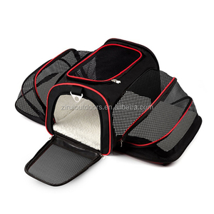Wholesale Expandable Pet travel Carrier Airline Approved dog travel bag Comfortable Soft Sided pet Carrier