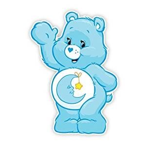 Walls 360 Peel & Stick Fabric Wall Decals: Care Bears Bedtime Bear Wave (8.5 in x 12 in)