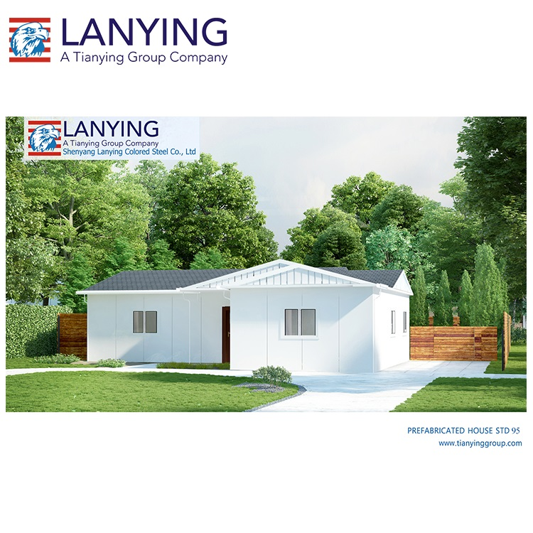 STD95 sqm fast building modular prefab steel houses