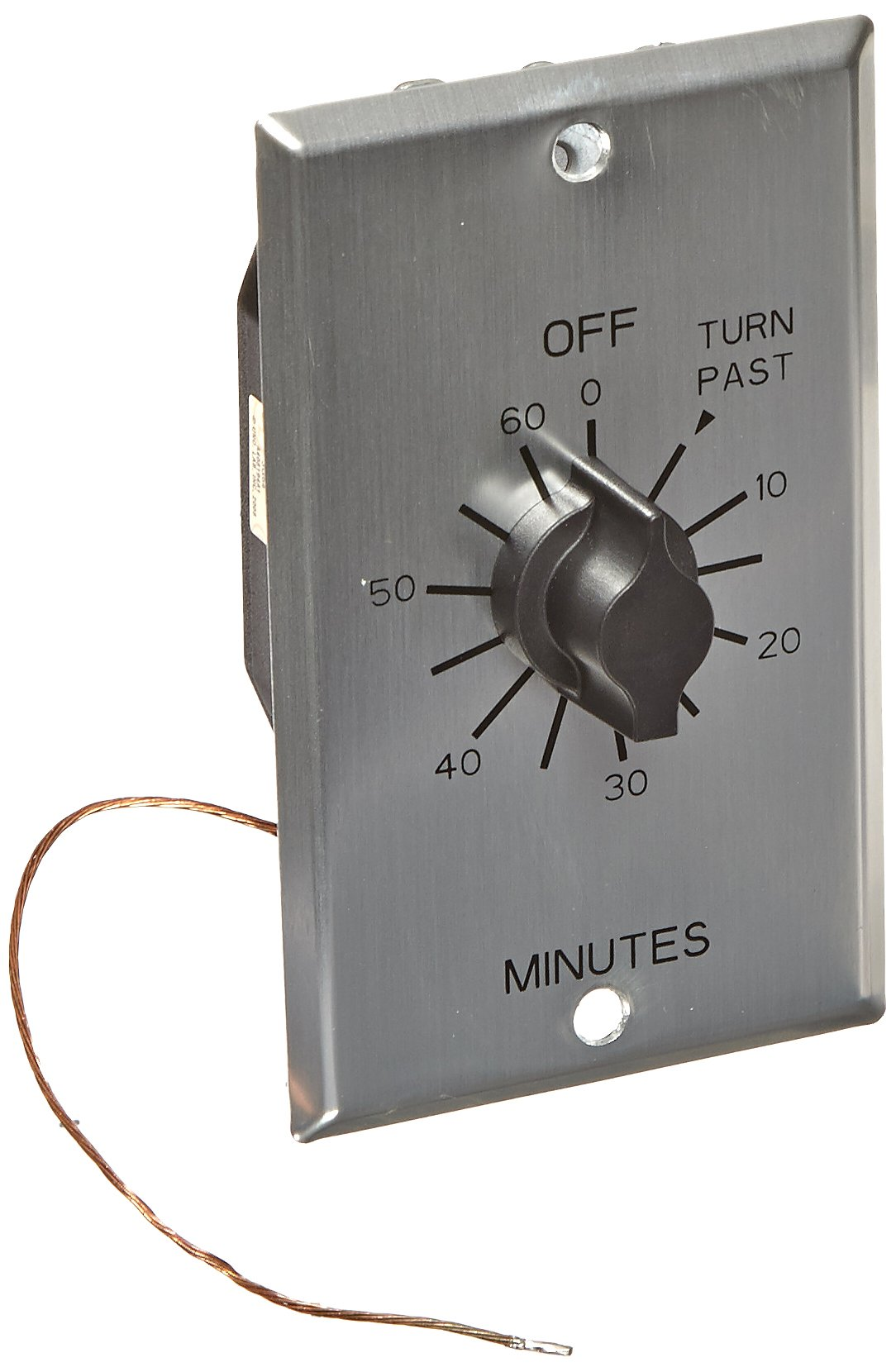 C Series Commercial Style Sringwound Auto Off In-Wall Time Switch, 60 Minute Timer Length, DPST Switch Type