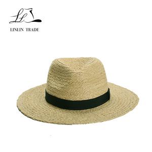 2200e7e9b7b3e Promotional good quality raffia braid straw sun beach panama hat unisex