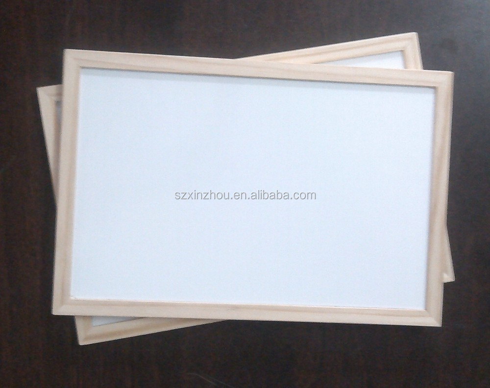 Wall Mounted Whiteboard with Wooden Frame