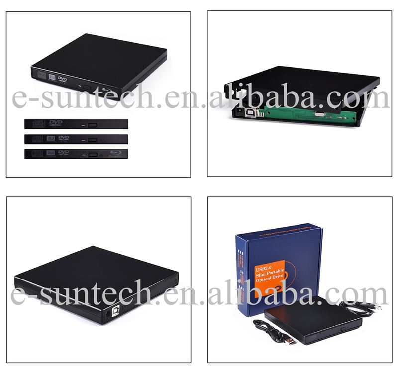 Classical USB2.0 External DVD RW Burner Drive Case