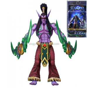 "NECA Heroes of the Storm the betrayer Illidan 7""blue toy action figure"