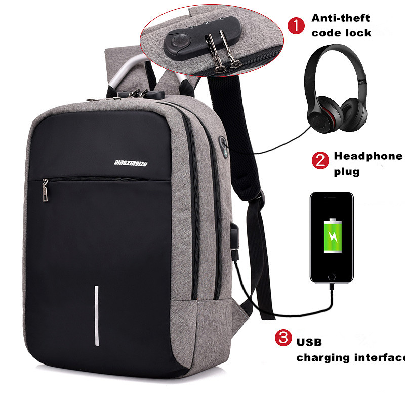 Factory Price new fashion business waterproof black mochilas usb charging anti theft smart laptop backpack bag