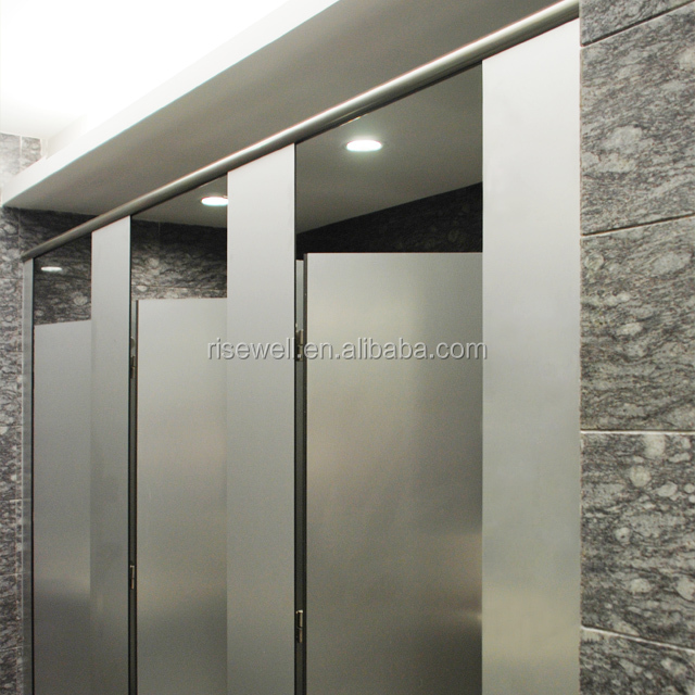 Debo super high quality phenolic compact hpl toilet cubicle metal finished toilet partition