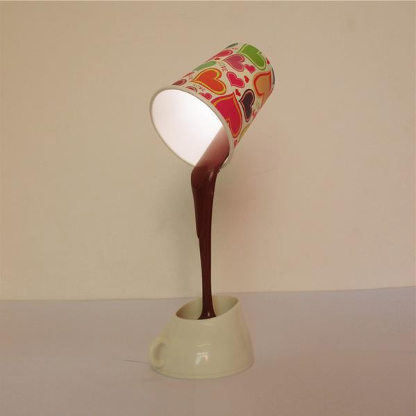 Wholesale Stock Small Order DIY creative USB battery dual-use coffee cup shaped fancy 3D lamp
