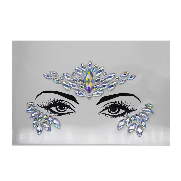 Beautiful face crystal sticker Rhinestone Stickers Body Gems Temporary Tattoo Sticker