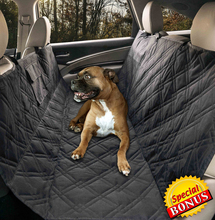 Nonslip silicone rubber backing back seat car seat cover machine washable with pockets for dogs