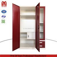 New Style India Steel Almirah With Glass Door And Drawers Metal Clothes Cabinet Smart Locker Designs