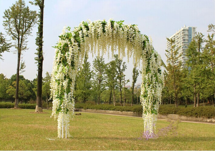 Gnw 15m length white artificial decorative flower vines wisteria gnw 15m length white artificial decorative flower vines wisteria flower garland for wedding wall decoration mightylinksfo