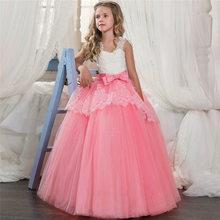 Новинка 2020 года, Открытое платье с цветочным рисунком на спине для девочек высококачественное свадебное платье с цветочным рисунком для ма...(Китай)