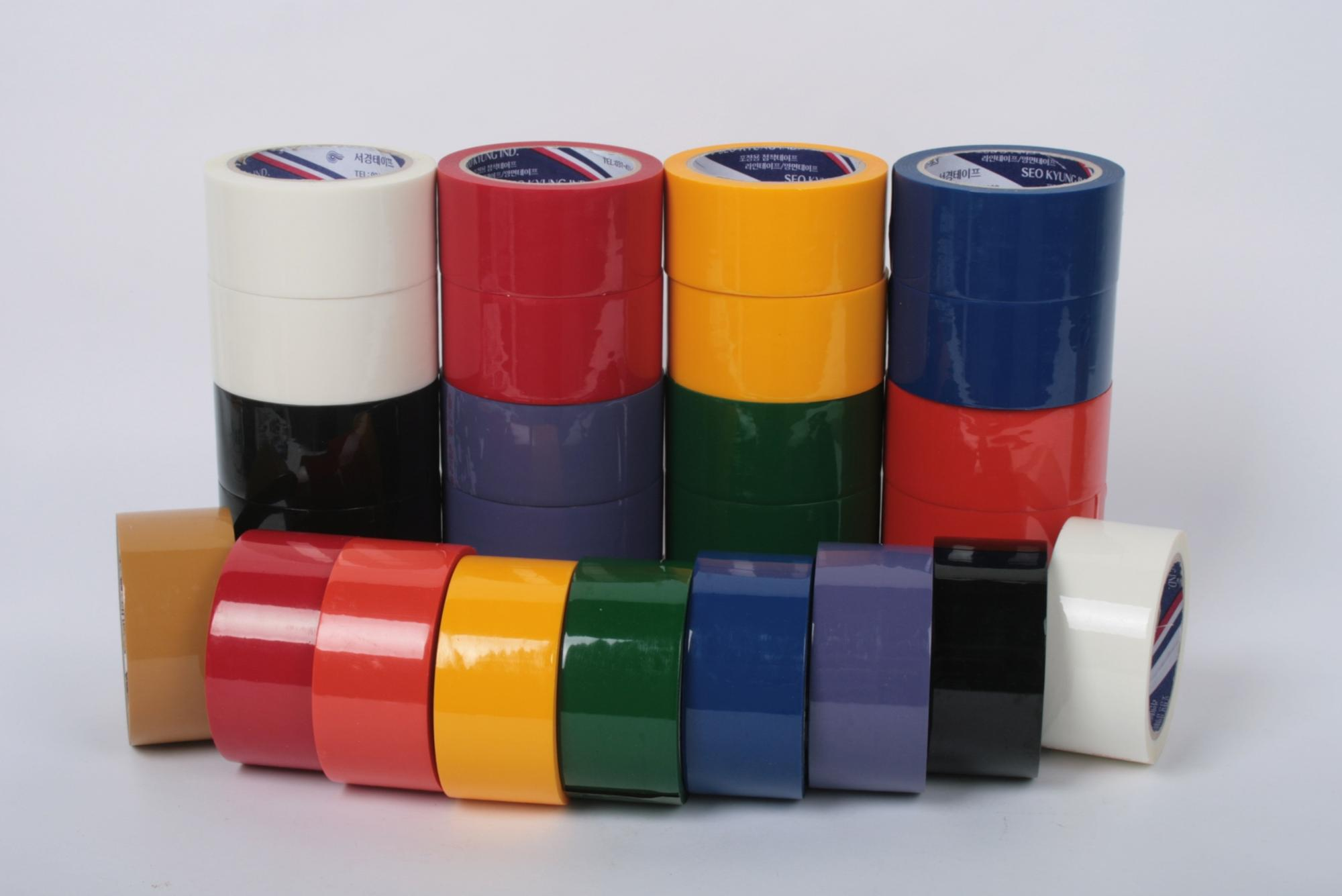 sellotape packing clear colorful red yellow blue green bopp adhesive tape