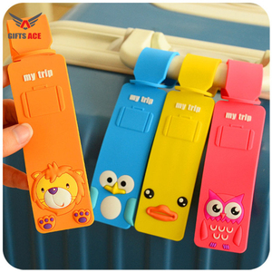 Girl / minion/duck shaped handbag tags New Novelty Toy Eco Friendly Baggage Tag Duck Luggage Tags
