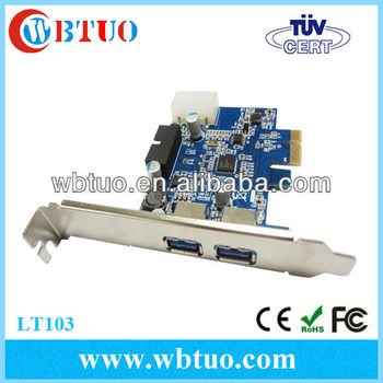 Pci-e To 2 Port Usb 3.0 Host Control Card W/ 19/20pin Usb3.0 ...