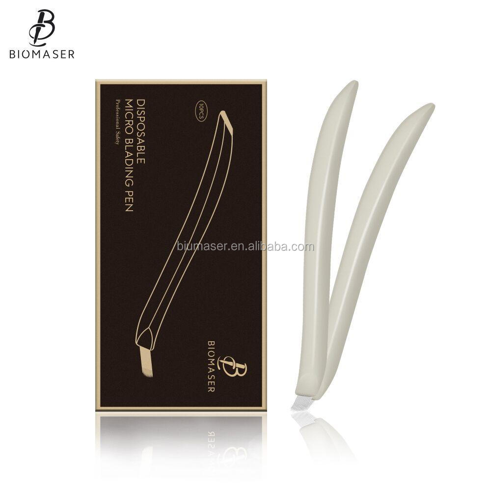 Professional Biomaser Microblade Disposable Hand Tool Eyebrow Microblading Pen for Permanent Makeup