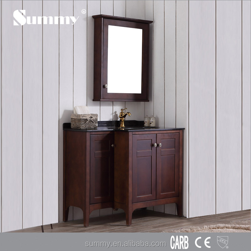 De madera maciza ba o tocador con espejo cl sico ba o for Tocador de madera maciza