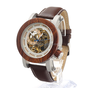 BOBO BIRD Waterproof Business Luxury Wooden Watches saat man hour Automatic Mechanical Watch in wood box