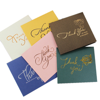 Customized Printed Gold foil Folded handmade paper thank you Greeting Card Set