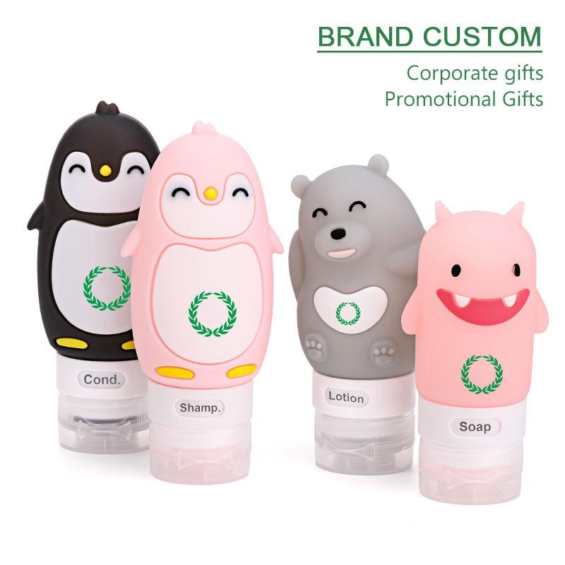 PENGUIM Silicone travel bottles brand custom silk-screen logo