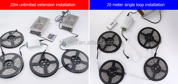 Alta qualidade 12v smd 5050 rgb led luz de tira flexível
