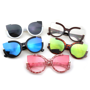 2018 New Cat Eye Sunglasses UV400 Cateye Women Fashion Round Eyewear Cheap Shades Mirror Sun Glasses