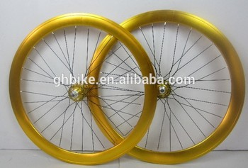 700C colorful bicycle fixie wheel set