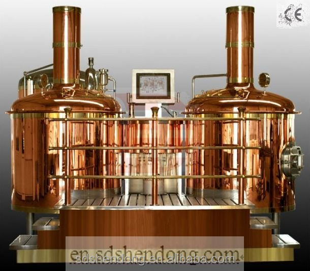 200L Red Copper or Stainless Steel Mash Tun 200L Micro Brewing Equipment