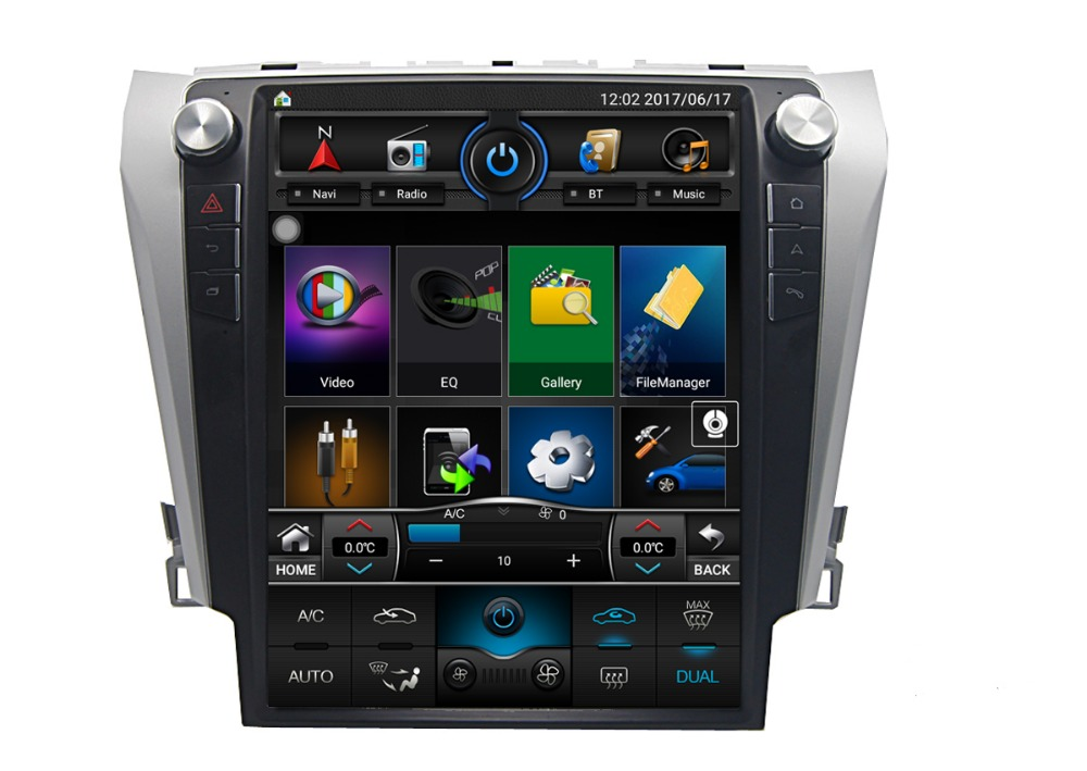 Sample order 12.1 inch Double Din Digital Touch Screen <strong>Car</strong> Stereo Bluetooth GPS Mirror Link for <strong>Toyota</strong> Camry 2012-2015