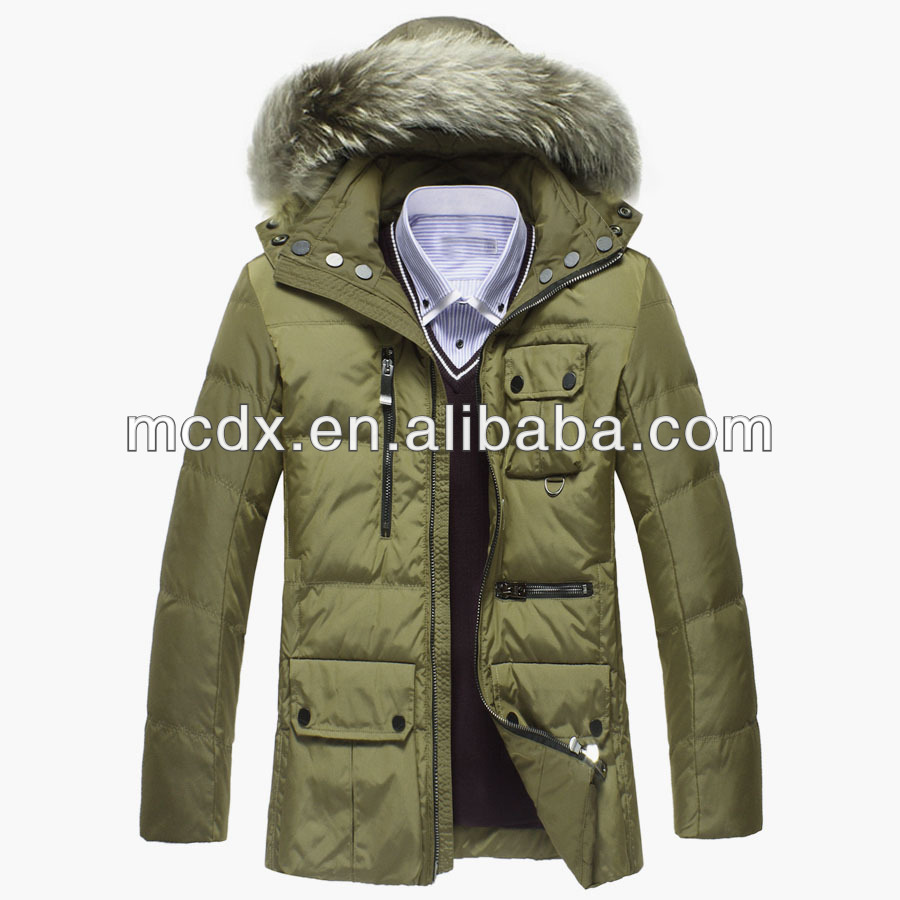 Custom man winter padded jacket with high quality