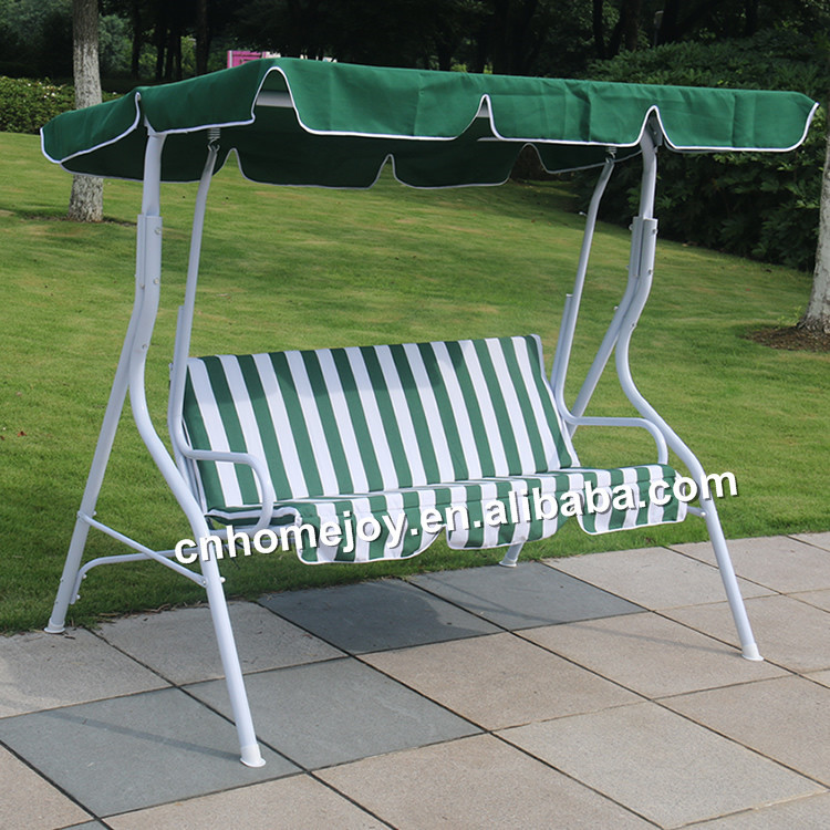 High Quality Wrought Iron Patio Swing, 3 Seater Metal Garden Swing Chair