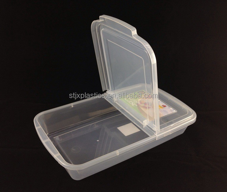 Flat Shape Clear Plastic Container Ham Container Buy