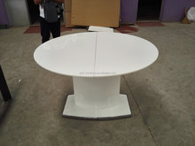 extended round table with mdf high gloss dining table for hot sale
