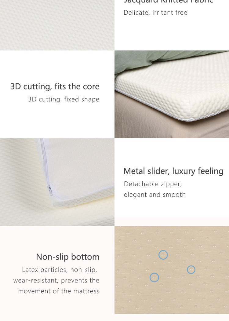 Factory Home Mattress Topper Bed Foldable Anti-slip Compressible Memory Foam Bed Mattress