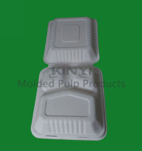 Disposable biodegradable paper pulp molding tableware