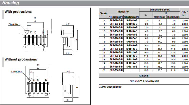 jst 1 0mm pitch 4 pin sh series connector shr