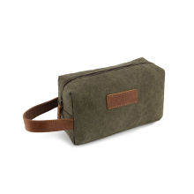 1CS0251 1CS0240 Best Stylish Custom Army Green Canvas Washbags Portable Smart Travel Mens Toiletry Bag Shaving Dopp Case