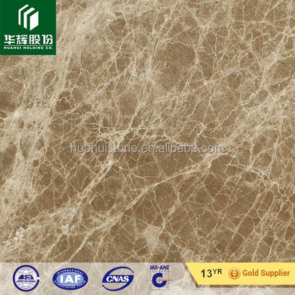 Stone crystal light emperador marble slab for interior master room and living room