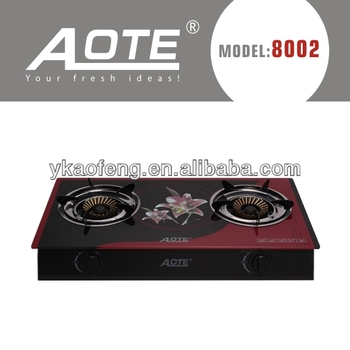 Ce 2 Burner Gl Top Gas Stove Automatic Shut Off View Aote Product Details From Yongkang Aofeng Electrical