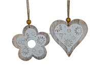 Popular wooden flower heart hanging easter ornament